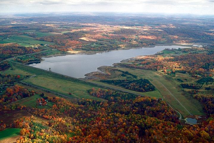 Aerial view of Woodcock Creek Lake
