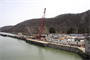 The Pittsburgh District's Repair Fleet conducts work at the Montgomery Lock and Dam on the Ohio River, April 4, 2013.
