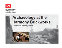 Image of Archaeology of the Harmony Brickworks booklet and link to pdf
