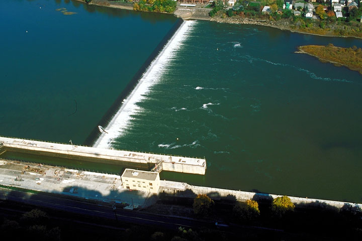 Aerial view of Lock & Dam 7, Allegheny River