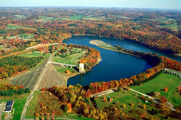 Aerial view of Crooked Creek Lake