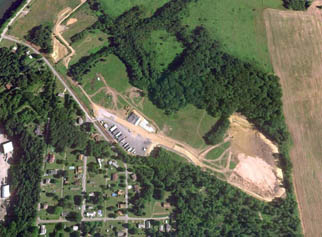 Aerial view of Shallow Land Disposal Area before excavation