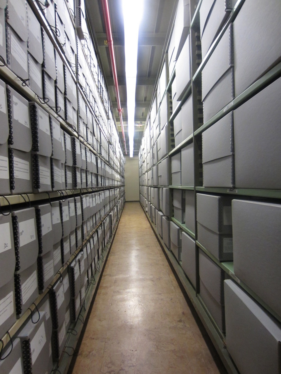 Image of files in a warehouse